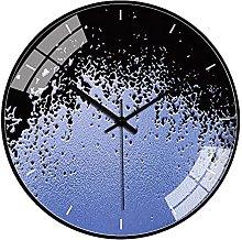 QWJYREMN Wall Clock Purple Creativity Decorative