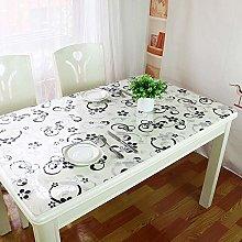 QWQ69 PVC Tablecloth Crystal Clear Vinyl Plastic