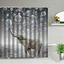 QWYEH Shower curtainBathroom curtain with African