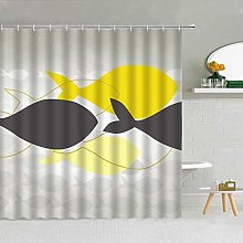 QWYEH Shower curtainFunny big fish abstract dream