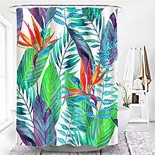 QWYEH Shower curtainShower curtains, tropical