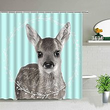 QWYEH Shower curtainVehicle print shower curtain,