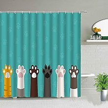 QWYEH Shower curtainWaterproof shower curtain set,
