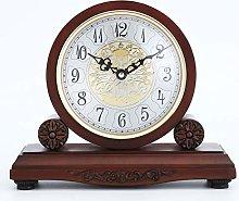 QYC Wooden Mantle Clock,Solid Wood Shelf