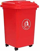 QYRKYP Shopping Mall Dustbin, Wheeled Trash Can