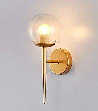 QYRKYP Wall Light Bedroom Glass Ball Lampshade