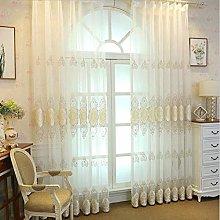 QYSZYG Embroidery Voile Curtain Transparent