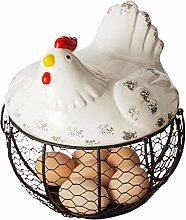 QYSZYG Iron Egg Storage Basket Snack Fruit Basket