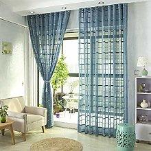 QYSZYG Living Room Cotton Blend Curtains Semi
