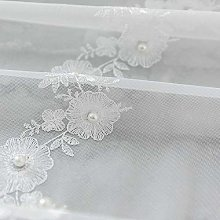 QYSZYG Transparent Curtain Embroidered with