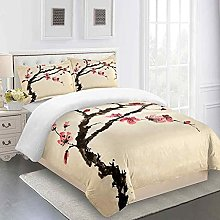 QZDUCN Duvet Cover Sets Baby Cot 3D Chinese Style