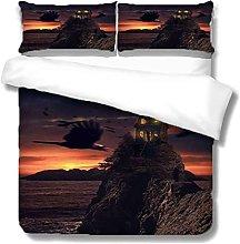 QZDUCN Duvet Cover Sets Baby Cot 3D Evening Sea