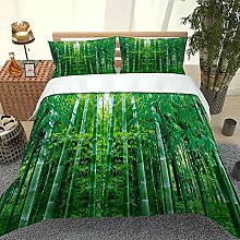 QZDUCN Duvet Cover Sets Baby Cot 3D Green Bamboo