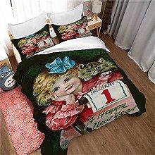 QZDUCN Duvet Cover Sets Baby Cot 3D Green