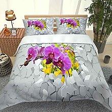 QZDUCN Duvet Cover Sets Baby Cot 3D Purple Yellow