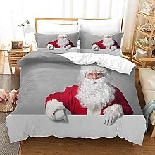 QZDUCN Duvet Cover Sets Baby Cot 3D Santa Gray
