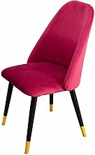 QZMX chair Cloth Art Leisure Dining Chair Simple