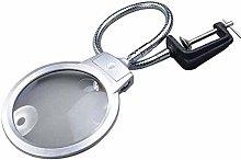 QZMX magnifier Magnifier Desk Glass With LED