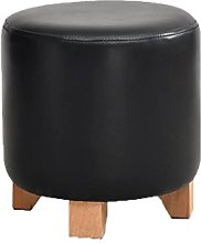 QZz Home Barstools Solid wood leather stool sofa