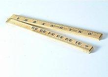 R.S.T. Wooden Folding Rule 1000mm/39in Rsr073