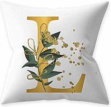 R-WEICHONG English Alphabet Sofa Cushion Cover