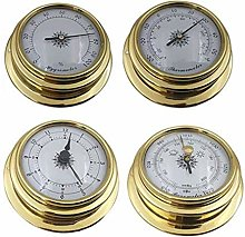 R-WEICHONG Sea Barometer Thermometer 4 Inches 4
