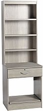 R. White Cabinets B-PSD-OD Desk With Drawer Shelf