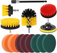 R&Xrenxia 14Pcs Drill Brush Attachment Kit, Nylon