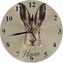 Rabbit Clock Cute Wild Animal Bunny Hare with