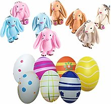 Rabbit Keychain Puppet Easter Eggs for Easter