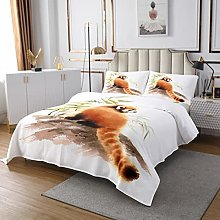 Raccoon Coverlet Set 3D Animal Quilted Bedspread