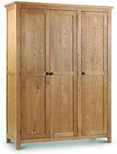 Rachel Large Oak - 3 Door Wardrobe Solid Oak And