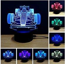 Racing Car 3D Novelty Light Led Lamp Table Lamp