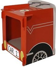 Racing Car Bedside Cabinet In Red