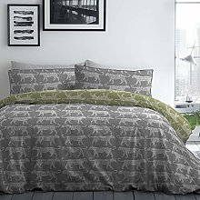 Racing Green Leopard-180 TC Easy Care Duvet Cover