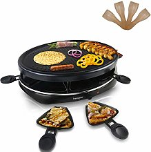 Raclette Grill Indoor Electric Grill for 8