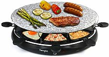 Raclette Grill Oval Stone Grill Machine with 8