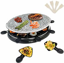 Raclette Grill with Non-Stick Natural Stone,