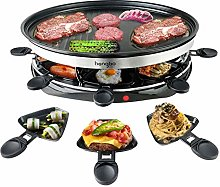 Raclette Grills for 8 People Party with 8 Mini
