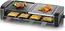 Raclette Party Grill with Natural Grill Stone 8