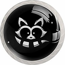 Racoon Round Cabinet Knobs 4pcs Knobs for Dresser