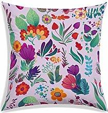 RADANYA Flowers Pattern Designer Square Cushion