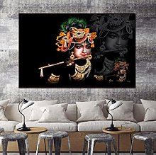 Radha Krishna Canvas Poster Art Home Decoration