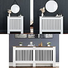 Radiator Cover Matte White Painted MDF Wood