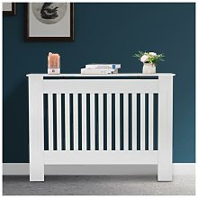 Radiator Cover Painted Slatted Cabinet MDF Lined