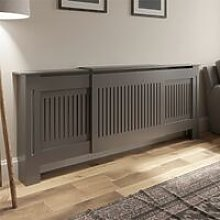 Radiator Cover Wall Cabinet Adjustable MDF Wood