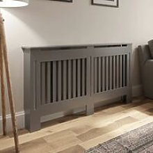 Radiator Cover Wall Cabinet Medium MDF Wood Grey