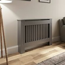 Radiator Cover Wall Cabinet Small MDF Wood Grey