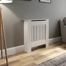 Radiator Cover Wall Cabinet X Small MDF Wood White