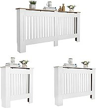 Radiator Cover White Modern Painted MDF Cabinet,